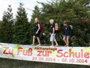 """Die """"Zu-Fuß-zur-Schule""""-Aktion wird seit Jahren vom Schulverein unterstützt."""